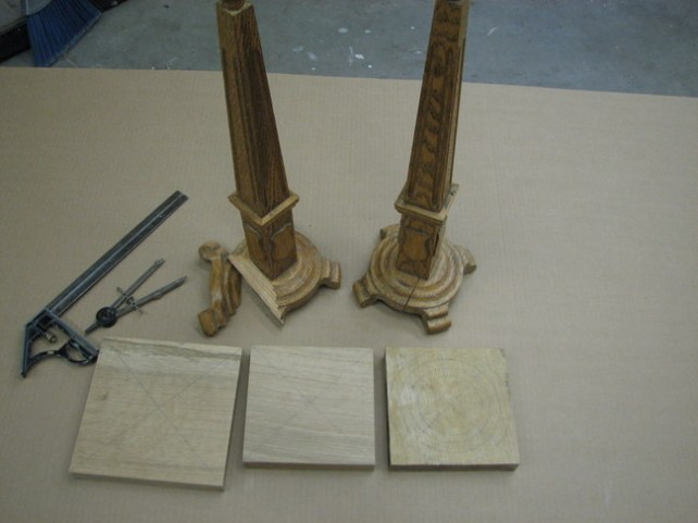 the cracked bases with the new wood