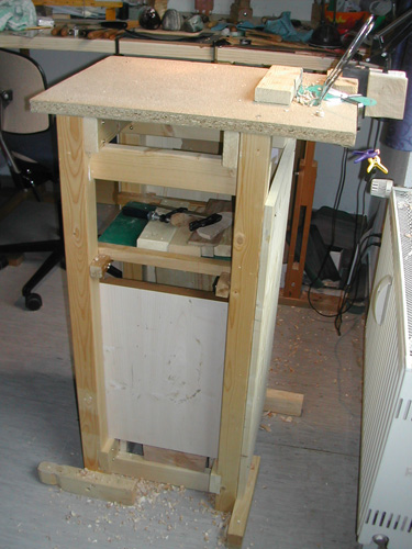Portable wood carving bench plans cluttered cqa