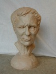 portrait bust in clay