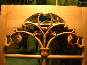 The carvings are roughed it at this point but are starting to take on a delicate look.